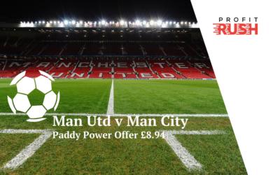 Paddy Power Money Back If Man City Beat Man United